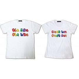 Tee Shirt Couple Ola bite ola bite C'est bon c'est bon