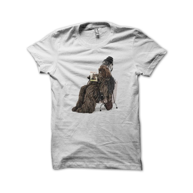 T shirt chewbacca at the beauty salon white for Beauty salon t shirts