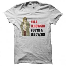 T-shirt I'm a Lebowski you're a Lebowski white