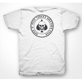 Rock N' Roll Street Fighting Club - Tee Shirt Ace of spades skull poker / as de pics crane poker  White/Blanc
