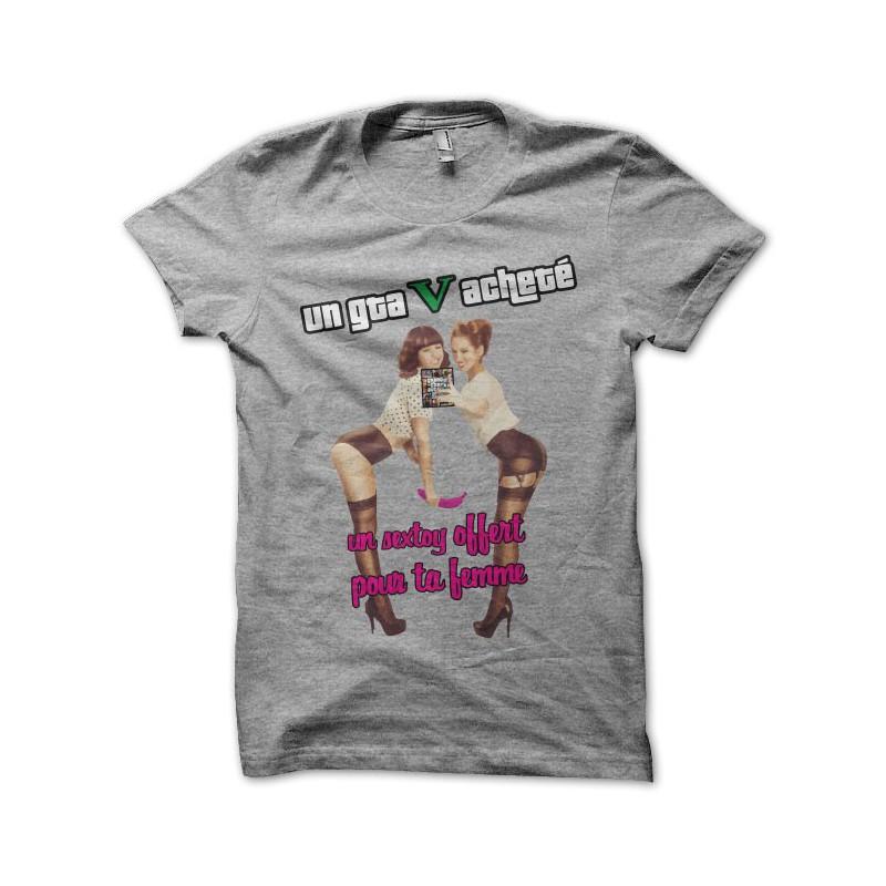 Acheté Ta Pour T Shirt Gta Gray Offert Sextoy Femme 5 wynNOmv80