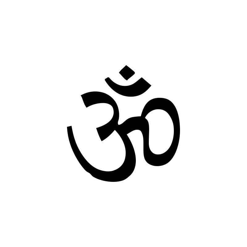 T Shirt Ohm Hindu Symbol White