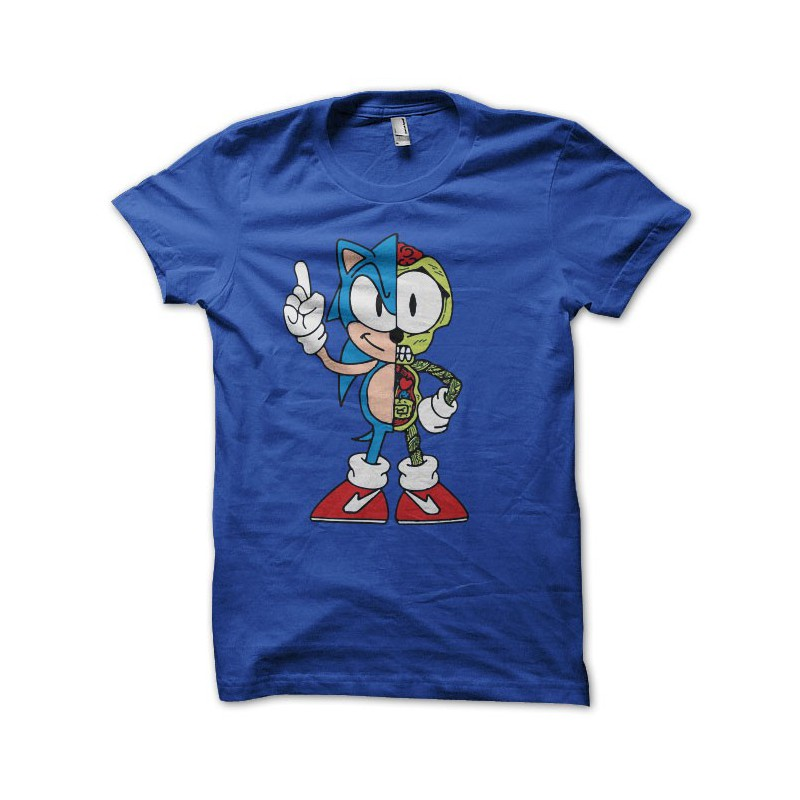 Azul de Sonic camisa Anatomía