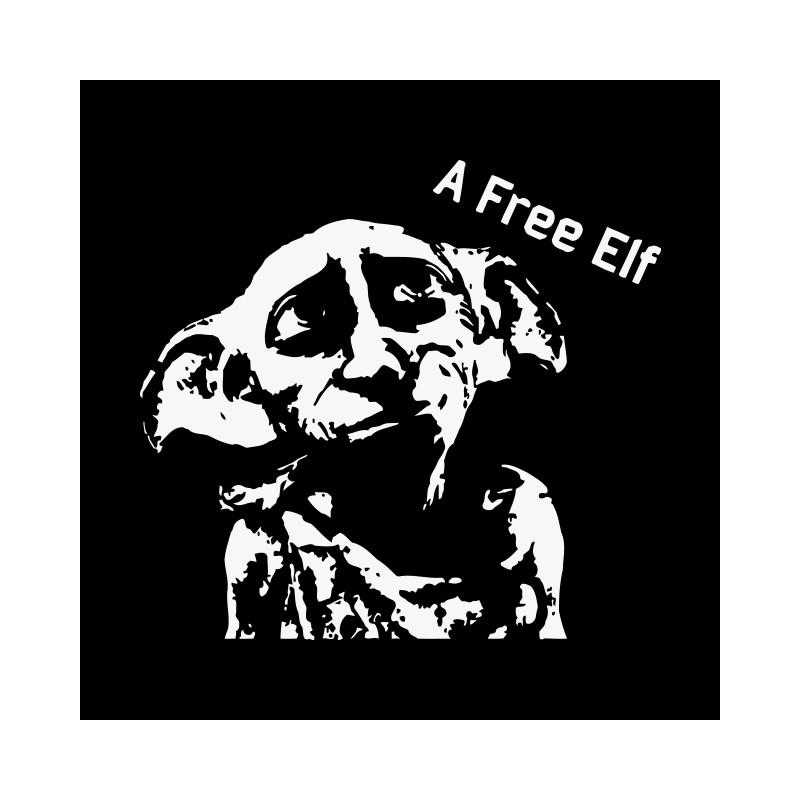 Camisa Elfo Dobby Libre Negro Harry Potter