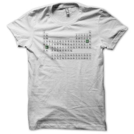 Breaking bad camiseta tabla peridica de los elementos blancos breaking bad tabla peridica urtaz Gallery