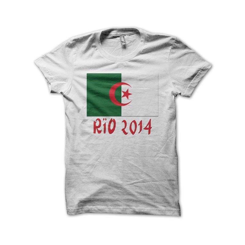 Tee Shirt Foot Algerie Rio 2014 Blanc