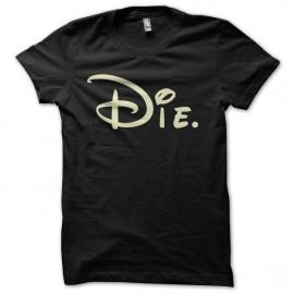 Die camiseta de la parodia negro de Walt Disney