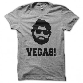 Tee shirt very bad trip vegas hangover gris
