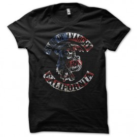 Tee shirt sons of anarchy rare drapeau americain noir