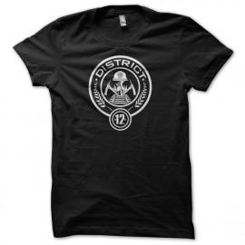 Tee Shirts Percha Juegos Distrito 12 blasón negro