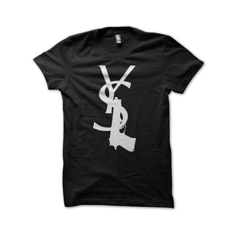 7c4ea7fa52 Yves Saint Laurent T-shirt black gun