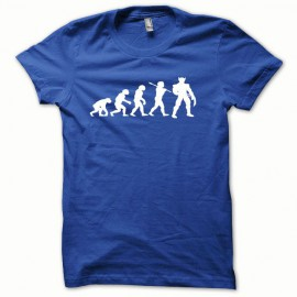 Tee shirt Wolverine Evolution version oceanic blanc/bleu royal
