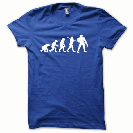 Tee shirt Wolverine Evolution blanc/bleu royal