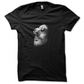 Black Tee Shirt Face Leon