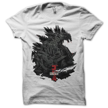 T Shirt Godzilla 2014 white art work
