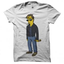 Hank Moody camisa blanca Simpson