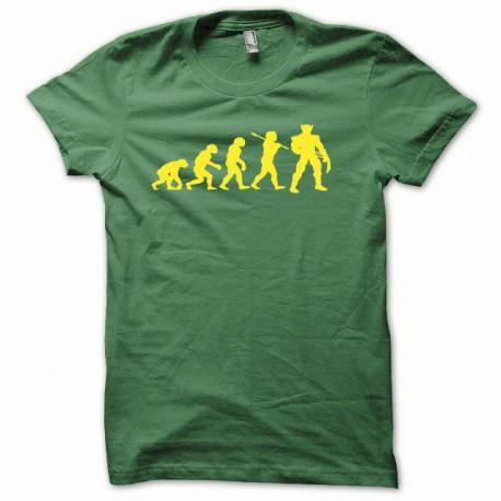 Tee shirt Wolverine Evolution jaune/vert bouteille