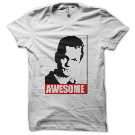 Tee Shirt Awesome Barney Stinson blanc