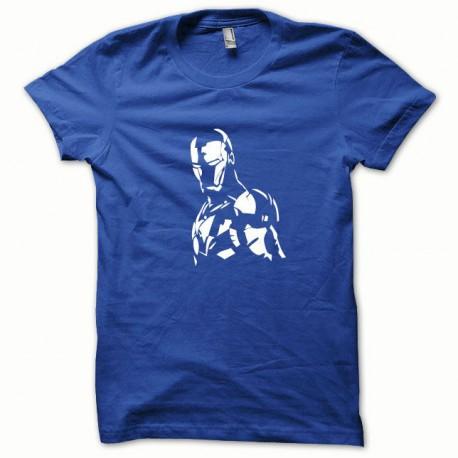 Tee shirt Iron Man blanc/bleu royal
