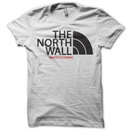 Tee shirt trone de fer parodie north face blanc