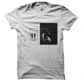 tee shirt anti couple blanc