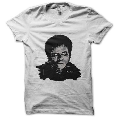 Camiseta blanca Thriller de Michael Jackson zombie ventilador de arte c467a8838df26