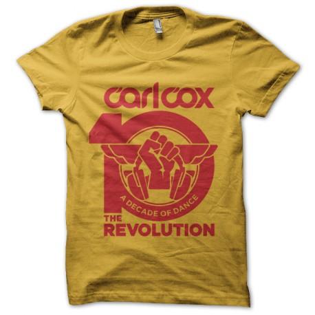 tee shirt carl cox revolution jaune