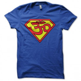 Tee shirt superman Ohm trance bleu