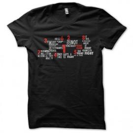 black tee shirt seven fight club
