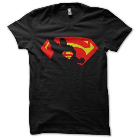tee shirt superman in shadow noir