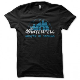 Tee Shirt Game of Thrones Winterfell Disney parody black