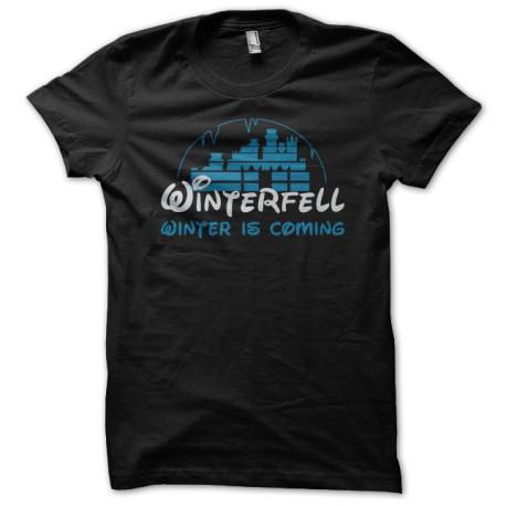 Tee shirt Game of Thrones Winterfell parodie Disney noir
