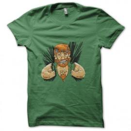 tee shirt chuck norris énervé vert