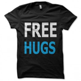 tee shirt free hug noir