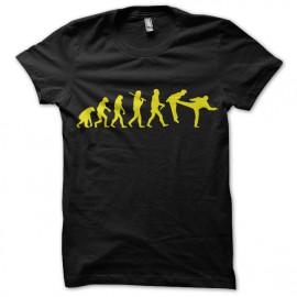 negro camiseta Evolución Chuck Norris pie en la boca
