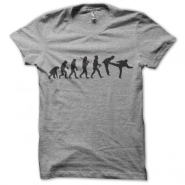 gray t-shirt chuck norris Evolution foot in mouth