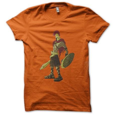 tee shirt spartacus soilder orange