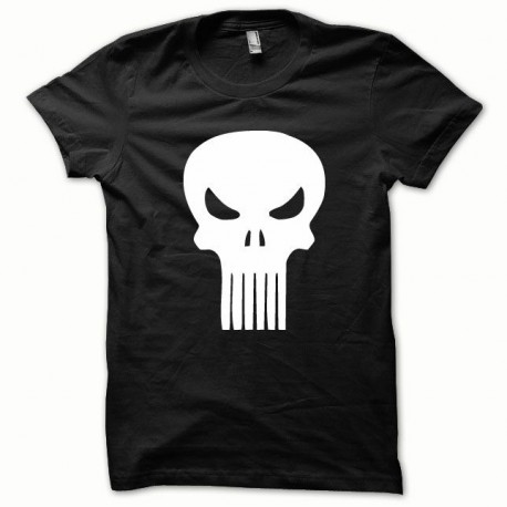 Tee shirt Punisher blanc/noir