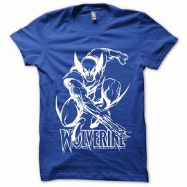 Tee shirt Wolverine special  wave blanc/bleu royal