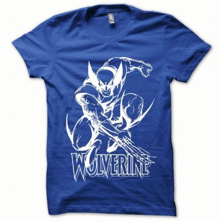 Tee shirt Wolverine blanc/bleu royal