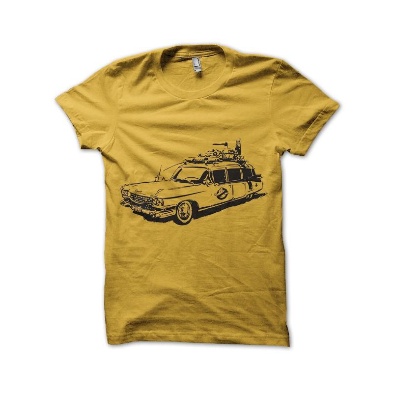 Ghostbusters Ecto Car Tee Shirt Yellow 1
