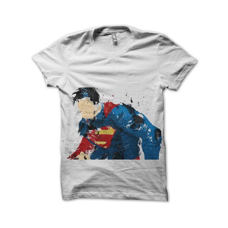 02c913b439d Tee Shirt Superman fan white paint art ...
