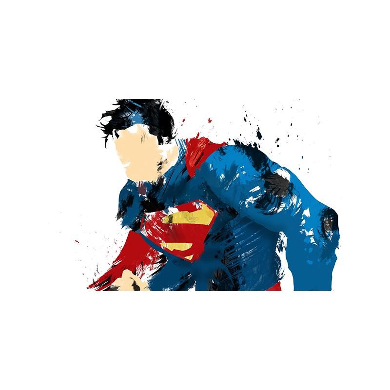 0e1f9a0dd32 ... Tee Shirt Superman fan white paint art