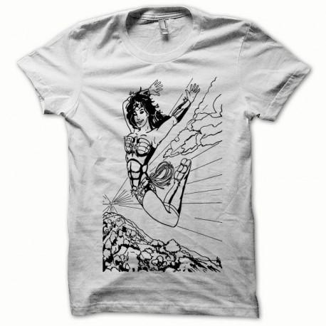 Tee shirt Wonder Woman noir/blanc