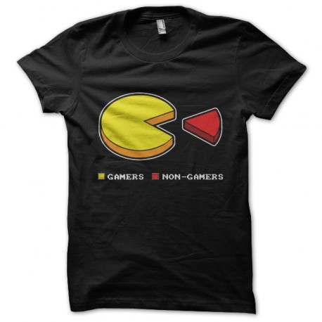 black t-shirt pac man