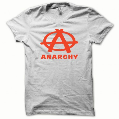 Tee shirt Anarchy orange/blanc