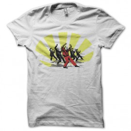 tee shirt michael jackson funny dance blanc