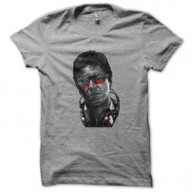 tee shirt tony montana fashion en gris