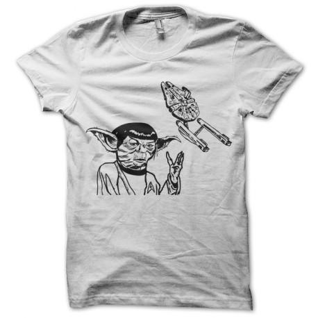 tee shirt Yoda-Spock blanc
