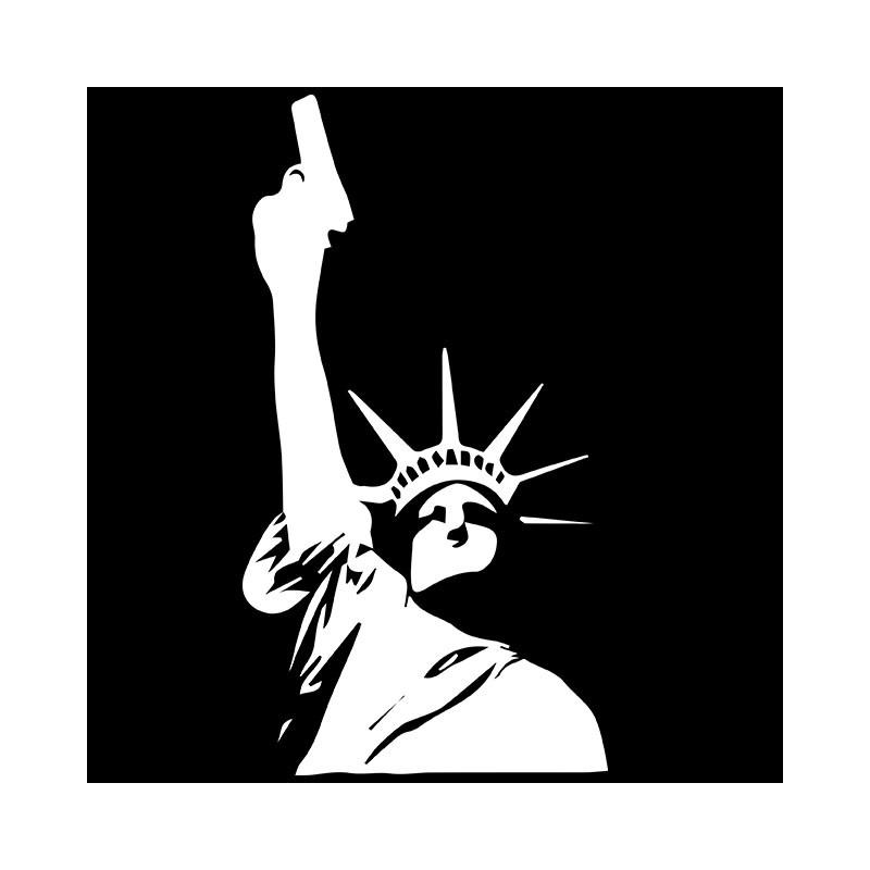 Tee shirt noir statue de la libert avec son gun for Film noir t shirts